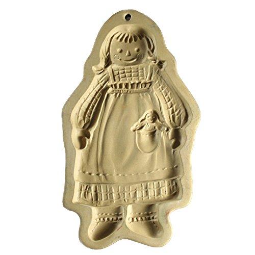 Brown Bag Cookie Art Mold 1988 Raggedy Ann Standing