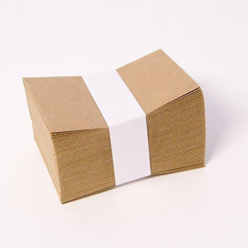 Apac Lot de 100 enveloppes en papier kraft haute qualité pour cartes de fleuriste Marron