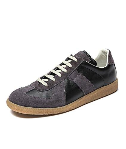 wiberlux-martin-margiela-mens-lace-up-contrast-sole-sneakers-405-black-dark-gray