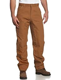 Carhartt Men's Double Front Duck Utility Work Dungaree B01,Carhartt Brown,36 x 32