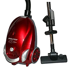 Dcc Dust Care DCC-006 Evolution Fireball Canister Vacuum Cleaner, 1200W, Red at Sears.com