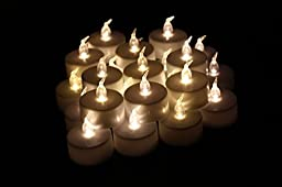 LED Tea Lights, Jofan 24pcs Warm White Non-flickering Flameless Candle LED Tealights for Birthday, Wedding, Restaurants and Parties