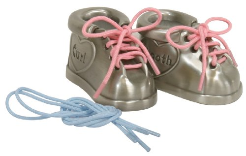 Stephan Baby Pewter First Tooth and First Curl Keepsake Shoes