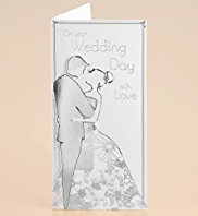 Silver Die Cut Couple Wedding Card