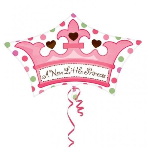 A New Little Princess Crown New Baby Junior Shape Foil Balloon front-857873
