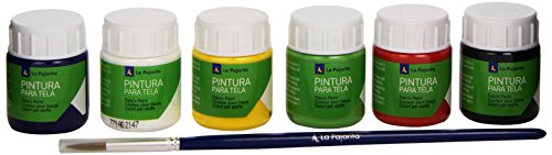 la-pajarita-422394-pack-de-6-botes-de-pintura-de-tela-y-pincel