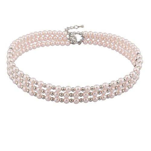 Lux accessori in filo di perle, colore: rosa Con-Collare per cane, misura media