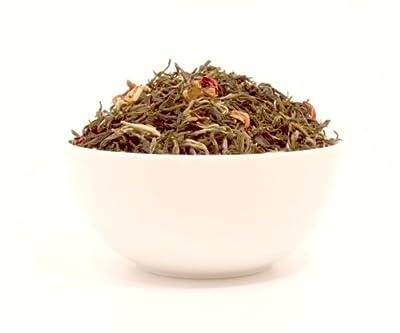 JAPANISCHE KIRSCHBLÜTE - Aromatisierter weißer Tee - in einer Black Jap Dose rund (Teedose) - Ø 64 mm, Höhe 100 mm(75g) von Detrade - Gewürze Shop