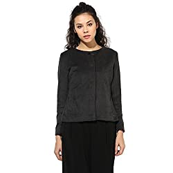 Cashewnut Women Basic Solid Jackets -L