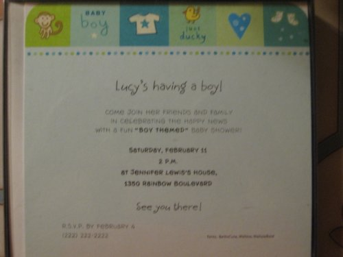 Baby Shower Ducky Invitations front-1077632