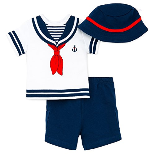 Little Me Baby Boys Sailor Short set