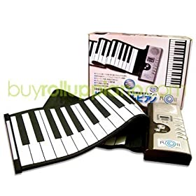 Roll Up Piano - Digital & Portable 61 Keys Roll-Up Piano Electronic MIDI Keyboard with 16 MIDI Output Channels Design