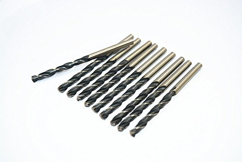 Antrader 10 Pcs Parallel Shank HSS M2 5.2mm x 85mm Twist Drill Bits for Stainless Steel (Hss Parallel Shank Twist Drills compare prices)