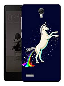 "Unicorn Shiny Printed Designer Mobile Back Cover For ""Xiaomi Redmi Note - Note 4G"" By Humor Gang (3D, Matte Finish, Premium Quality, Protective Snap On Slim Hard Phone Case, Multi Color)"