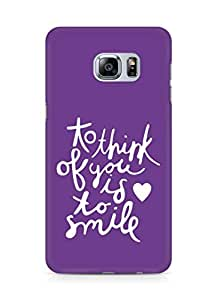 AMEZ to think of you is to smile Back Cover For Samsung Galaxy S6 Edge Plus