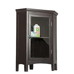 Elegant Home Fashions 7640 Madison Avenue Corner Floor Cabinet Dark Espresso