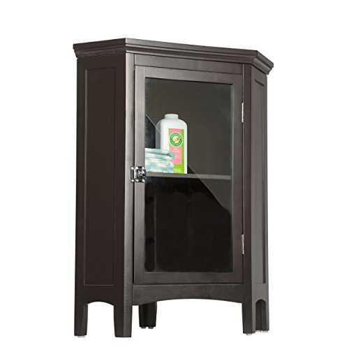 Elegant Home Fashions 7640 Madison Avenue Corner Floor Cabinet Dark Espresso