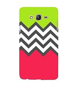 Zig Zag Pattern 3D Hard Polycarbonate Designer Back Case Cover for Samsung Galaxy On7 :: Samsung Galaxy On 7 G600FY
