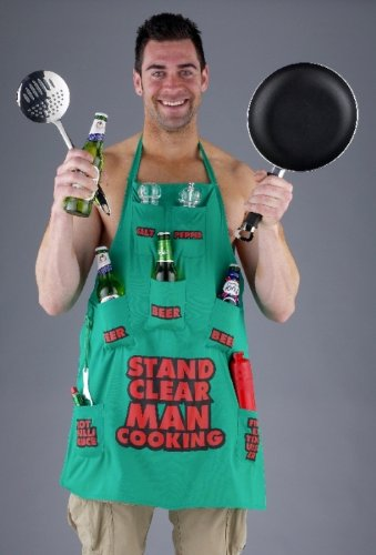 Boxer Gifts Stand Clear Man Cooking  Apron