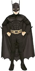 Rubies Deluxe Child Muscle Chest Batman Halloween Costume | Medium