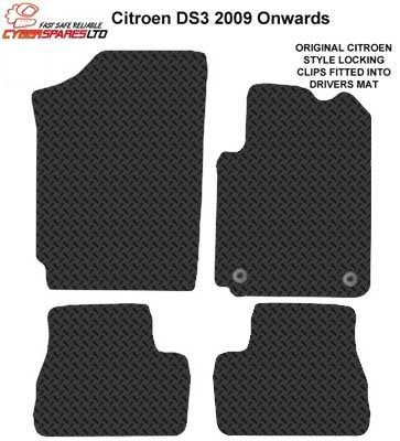 Citroen DS3 2009 Onwards Tailored Rubber Car Mats