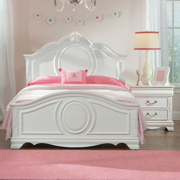 Standard Furniture Jessica 2 Piece Kids' Panel Bedroom Set in White