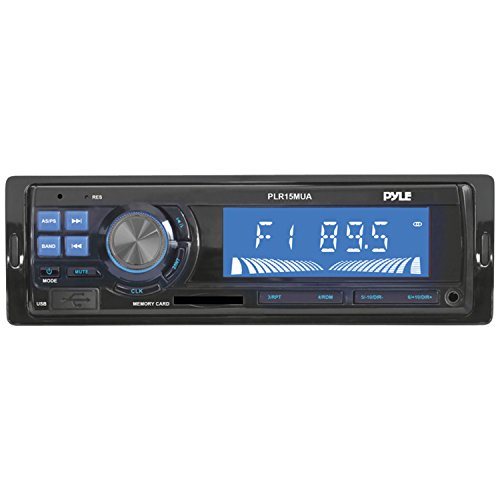Pyle Plr15Mua In-Dash Receiver With Usb/Sd Card Readers, Aux-In Ipod/Mp3 Player, Am/Fm Radio
