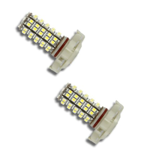 Pair Super White H16 68-Smd Led Headlight Bulbs For Driving Fog Light