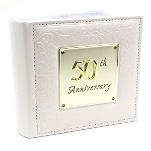 50th gold wedding anniversary gift photo album holds 80 6 x4 pictures arts. Black Bedroom Furniture Sets. Home Design Ideas