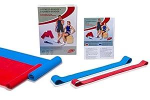 Dittmann Fitnessbänder 4er Set (2 Gymnastikbänder + 2 Rubber-Bänder)