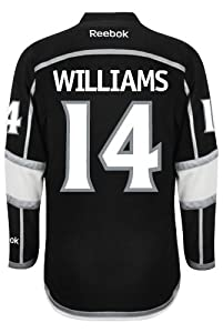 Buy Los Angeles Kings Justin WILLIAMS #14 Official 2014 Stanley Cup Home Reebok NHL Hockey Jersey With... by Reebok