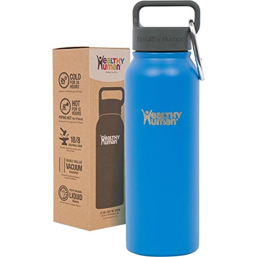Healthy-Human-32-oz-Water-Bottle-Keeps-Liquids-Cold-24-Hours-Hot-12-Hours-100-Leak-Sweat-Proof-Vacuum-Insulated-Stainless-Steel-Thermos-Flask-Includes-Carabiner-Hydro-Guide