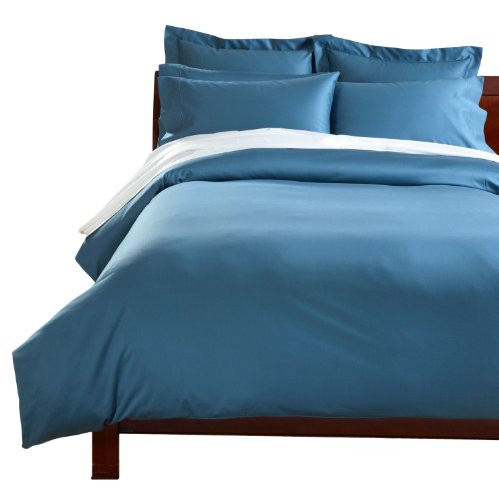 Cuddledown 400 Thread Count Comforter Cover, Full, Sapphire front-797523