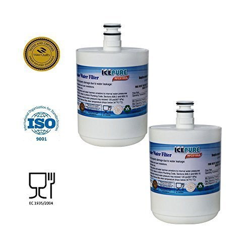 2 Pack - IcePure Water Filter to Replace LG, Kenmore, Sears, LT500P, 5231JA2002, 5231LA2002A, 5231JA2002A-S, 5231JA2002B, 5231JA2002B-S, 9890, ADQ72910901, ADQ72910902, GEN11042F-08, GEN11042FR-08, PS2487038, SGF-LA22, EEF-6005A, WF-290, WF290, WSL-1. (Lg Refrigerator Filter Lt500p compare prices)