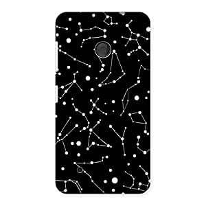Special Constellation Black Back Case Cover for Lumia 530