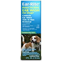 Lambert Kay Ear-Rite Insecticidal Ear Wash for Dogs, 4-Ounce
