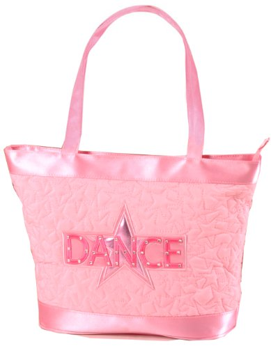 Dansbagz Quilted Star Dance Tote Bag One Size Pink