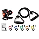 Ripcords Exercise Bands - Black Sniper Edition 6-pack with Bonus DVD