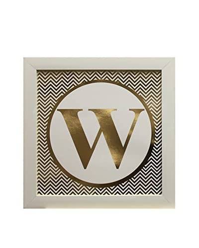 """Star Creations Gold Foil Letter Collection Letter W, 14"""" x 14"""""""