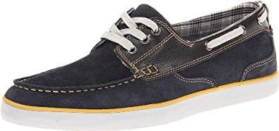 Clarks Men's Jax Boat Shoe,Brown/Blue,7 M US