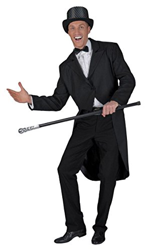 Morris Costumes Men's BLACK TAILCOAT ADLT, Large