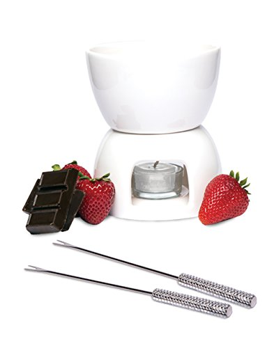 Wild Eye Fondue Set, White