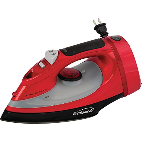 1 - Full-Size Stream, Spray & Dry Iron (1,400W; Red With Cord Storage), Full-Size Iron, Adjustable Heat Control, Dry, Steam & Spray Settings front-561067