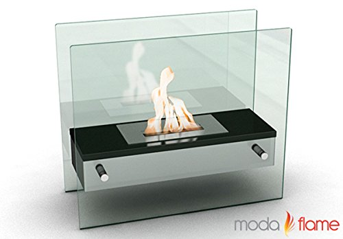 Moda Flame Naples H Tabletop Firepit Bio Ethanol Ventless Fireplace Black