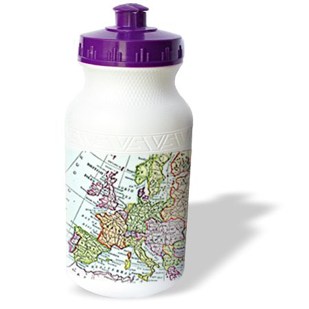Wb_112938_1 Inspirationzstore Vintage Maps - Vintage European Map Of Western Europe - Britain Uk France Spain Italy Etc - Retro Geography Travel - Water Bottles