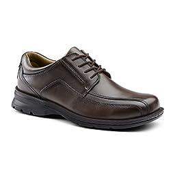 Dockers SureGrip Mens Stratford Tan Run Off Lace Oxford Slip Resistant Work Shoes 9.5M