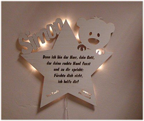 schlummerlicht24 nachtlicht teddystar geschenk mit individuellem namen ideal als geburts. Black Bedroom Furniture Sets. Home Design Ideas