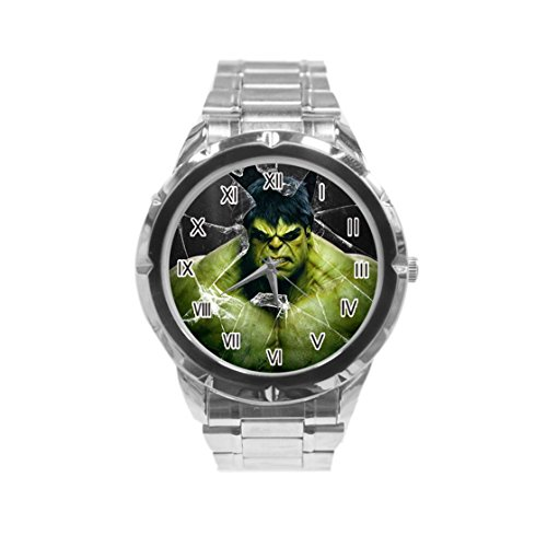 Hulk Photo Custom Fashion Men Wrist Watch Stainless Steel Band Men's Sport Watch HOT (Custom Photo Watch compare prices)