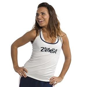 Zumba Wear Women's France Racer Back - Field Paint White, Medium