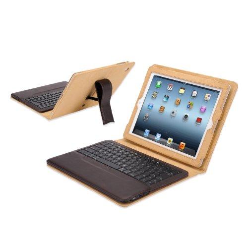 IPEVO  ダイレクトIPEVO Typi iPad(第2世代、第3世代、第4世代対応) スタンド機能付カバーBluetoothキーボード ブラウン Folio case + wireless keyboard for iPad 2 and iPad 3 and iPad 4 - Tan